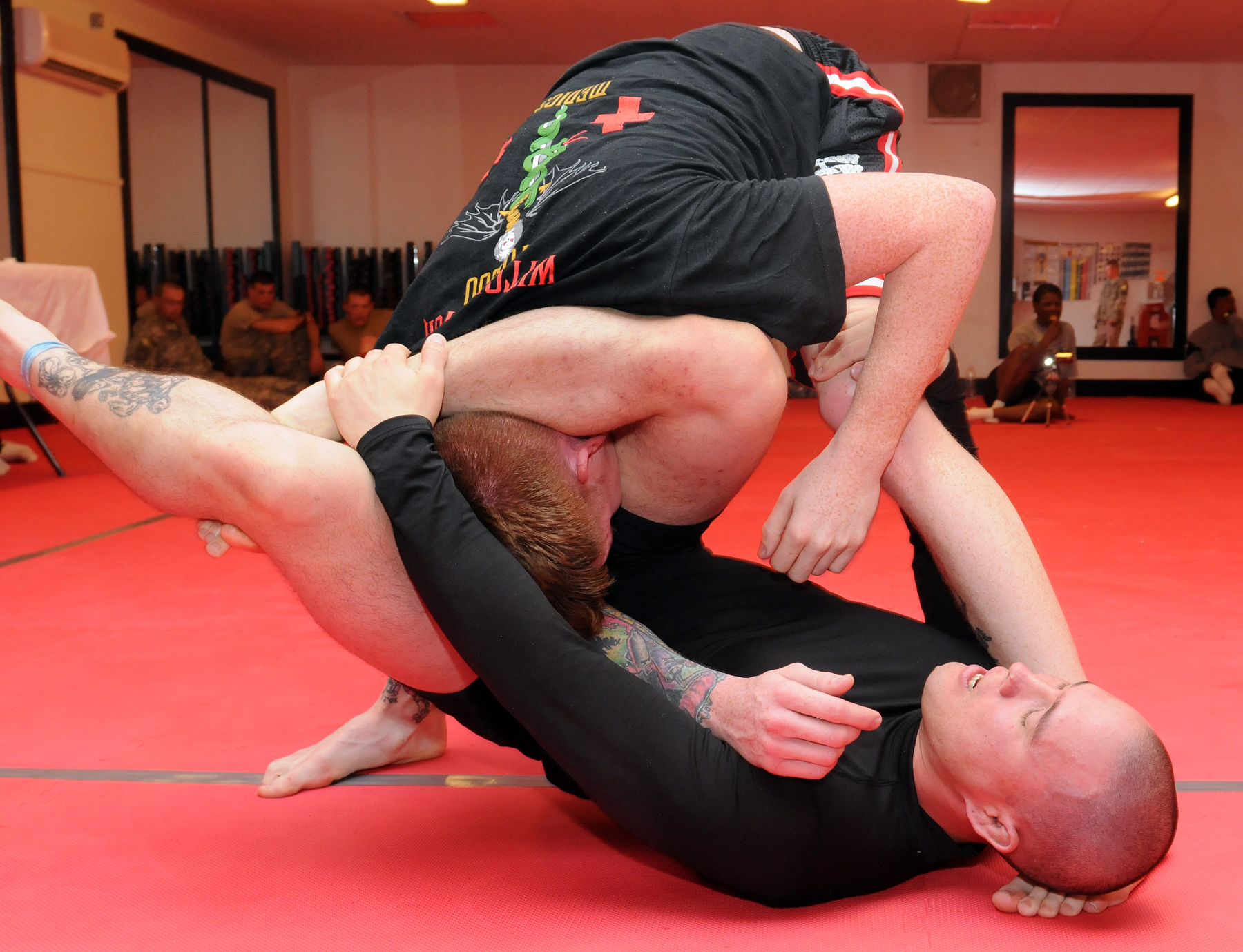 Triangle Choke while Submission Wrestling