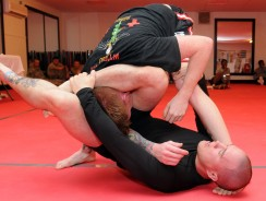 Triangle Choke Hold for Mixed Martial Arts